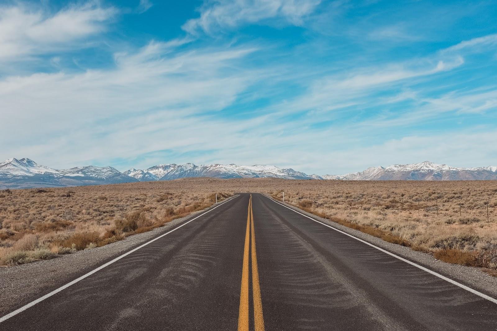 Road in Desert Place Landscape | Desktop Wallpaper Road