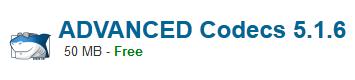 ADVANCED Codecs 5.1.6 Free Download
