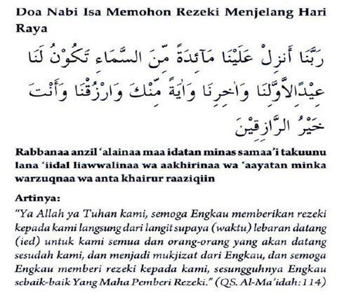doa nabi isa, mohon rezeki, mustajab, doa nabi, doa dalam Al Quran