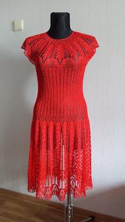 Megzta raudona suknelė