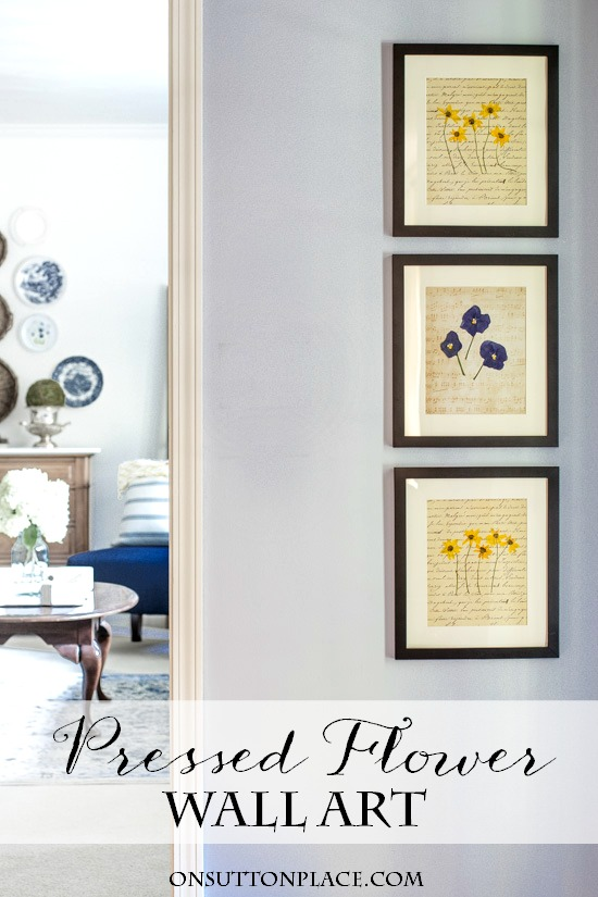 These are so pretty! DIY pressed flower artwork.