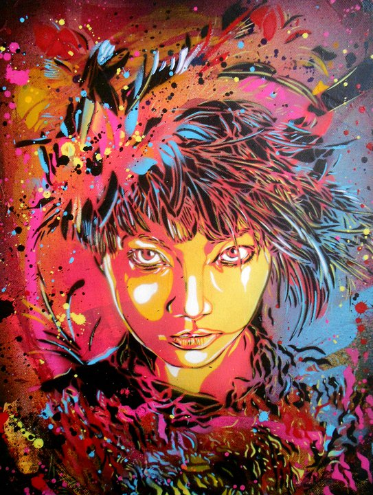 street art c215 la po tique du pochoir et l 39 motion polychrome paris la douce. Black Bedroom Furniture Sets. Home Design Ideas