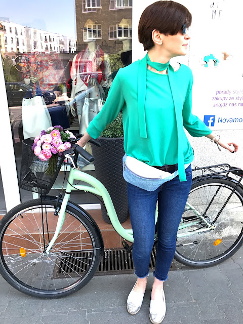 rowerowa stylizacja,miejski styl, wiosennie, stylizacja na rower, miejski szyk, nerka, stylistka,