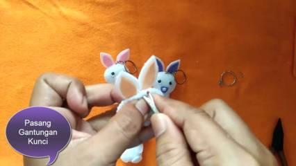 membuat boneka kelinci