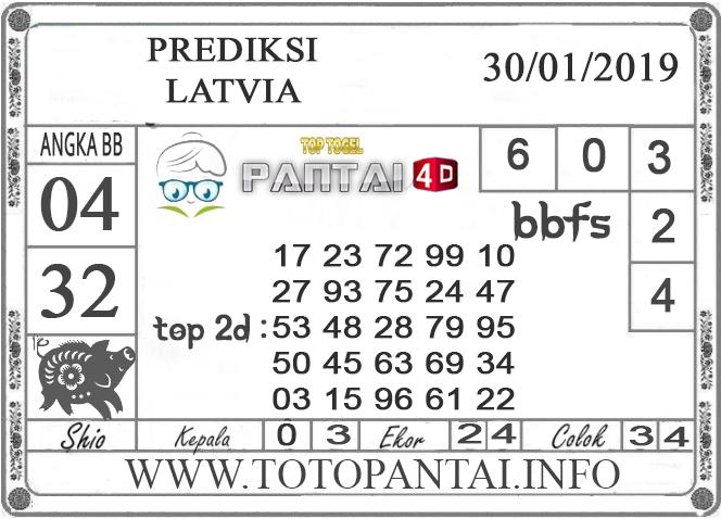 """Prediksi Togel """"LATVIA"""" PANTAI4D 30 JANUARI 2019"""