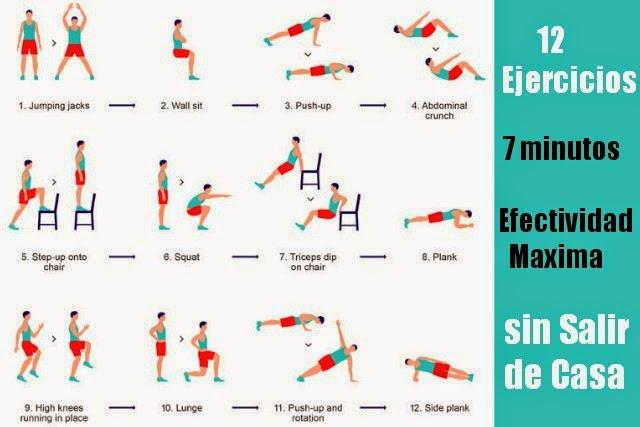 Mantenernos en forma y en casa con 12 ejercicios