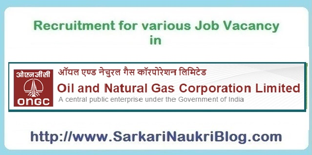 Sarkari Naukri vacancy in ONGC