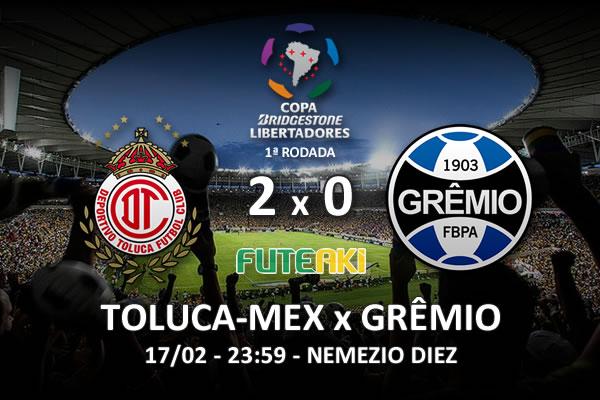 Veja o resumo da partida com os gols e os melhores momentos de Toluca-MEX 2x0 Grêmio pela 1ª rodada da Copa Libertadores da América 2016.