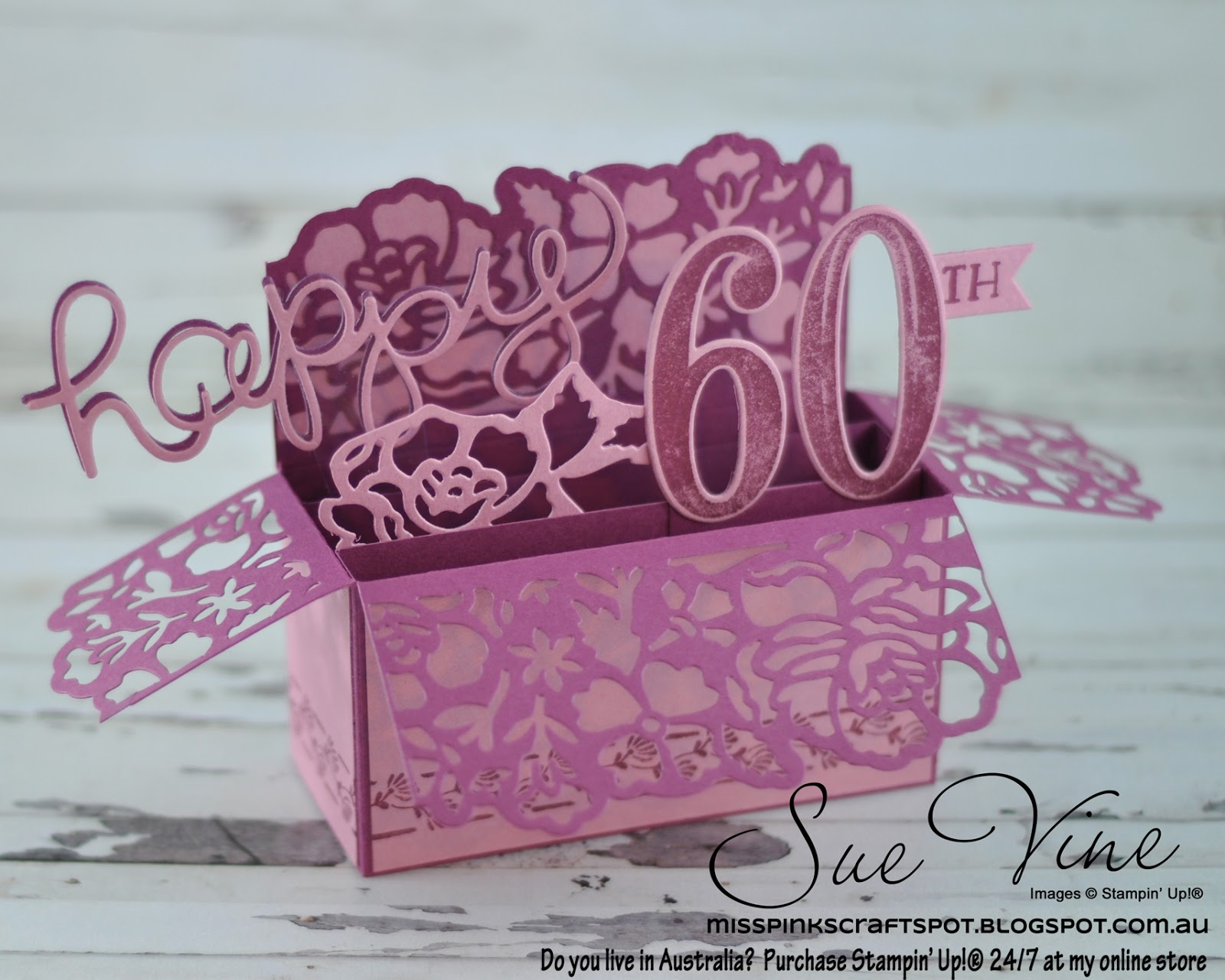 Detailed Floral Framelits Pop Up Box