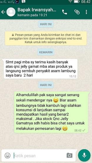 Testimoni Asli Dan Nyata Obat Herbal Qnc Jelly Gamat