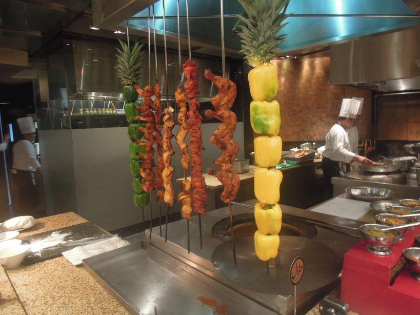Kebab station at Circles Event Cafe