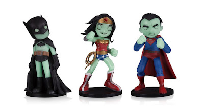 BoxLunch Exclusive DC Comics Artists Alley Glow in the Dark Variant Vinyl Figures by Chris Uminga – Batman, Superman & Wonder Woman