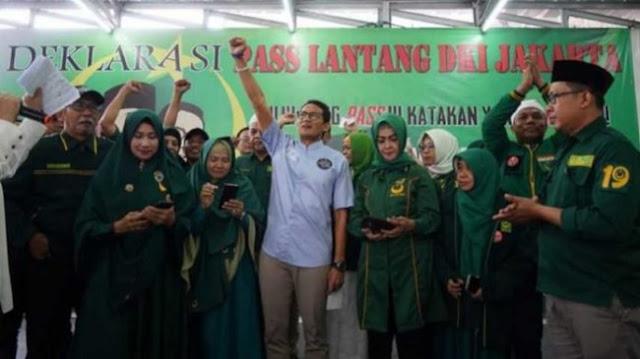 Relawan Pass Lantang Deklarasi Pilih Prabowo-Sandi