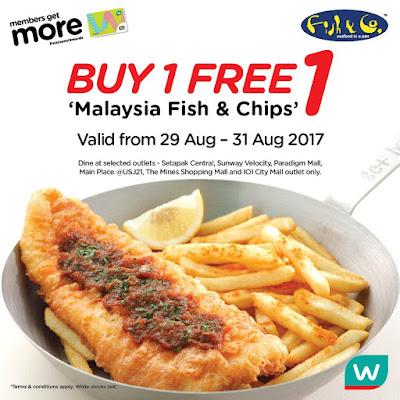 Watsons VIP Card Member Buy 1 Free 1 Fish & Chips Malaysia