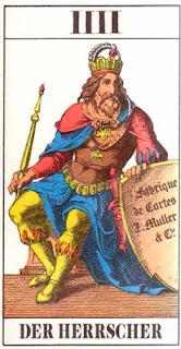 Imagen de la carta del tarot El Emperador