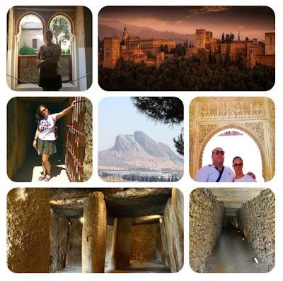 Dólmenes de Menga, Viera y el Romeral en Antequera... con la montaña mágica al fondo y la Alhambra de Granada