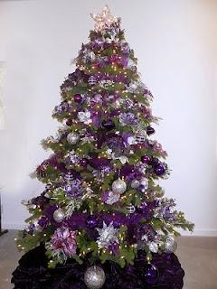 árbol navidad violeta