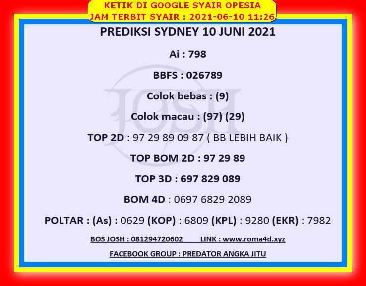 Opesia sydney 25 juli 2021