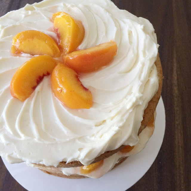 Grandma Ellie's Peaches and Cream Layer Cake