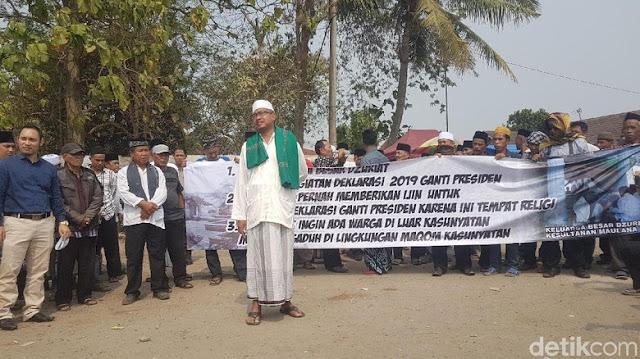 Izin Deklarasi #2019GantiPresiden Dicabut Oleh Pengelola Kesultanan Banten