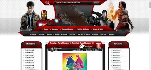 Templates Vermelho Branco e Preto 3 Colunas Blogger