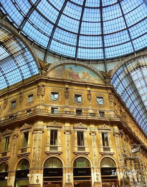 Interior de la Galería Vittorio Emmanuele