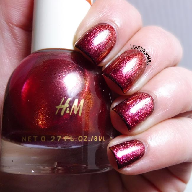 Smalto H&M Amaranthine nail polish