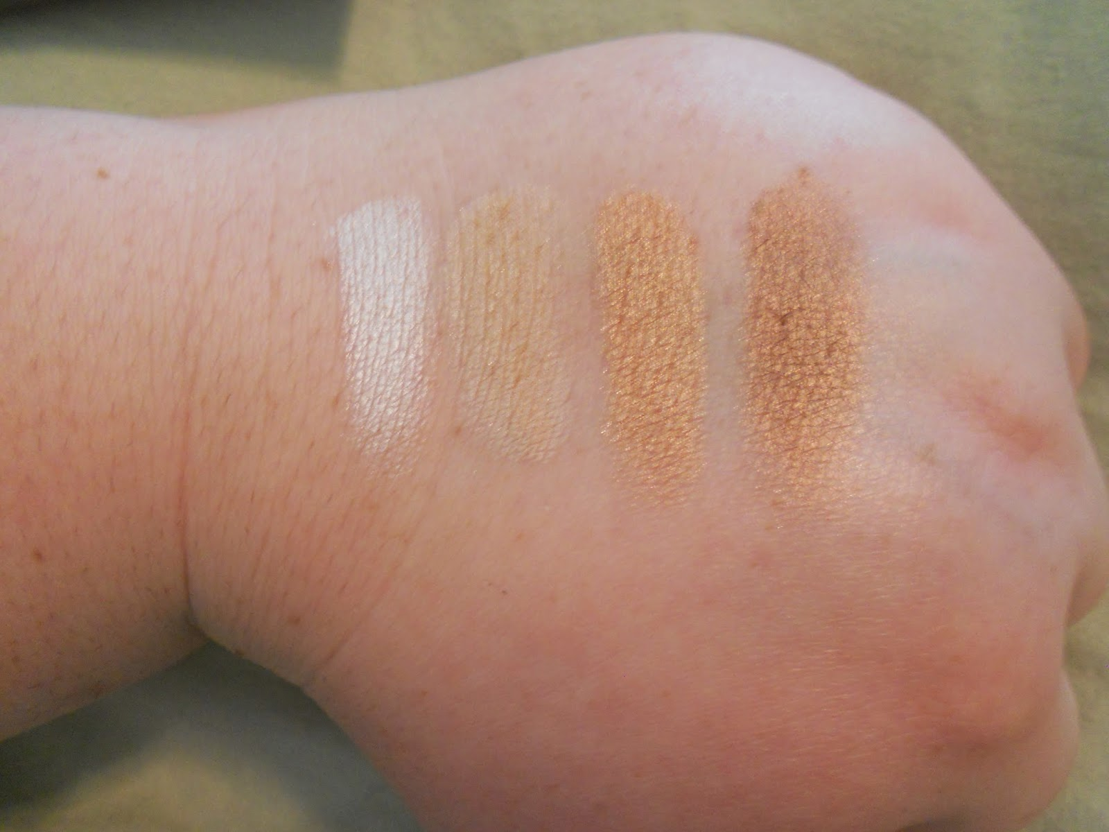 Lorac PRO Palette 2 Swatches - Snow, Beige, Rosé and Mocha