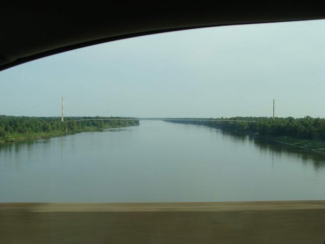 Blick auf den Mississippi Rver