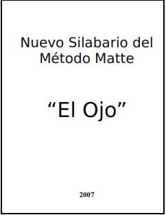 silabario metodo matte, tecnicas de lectura