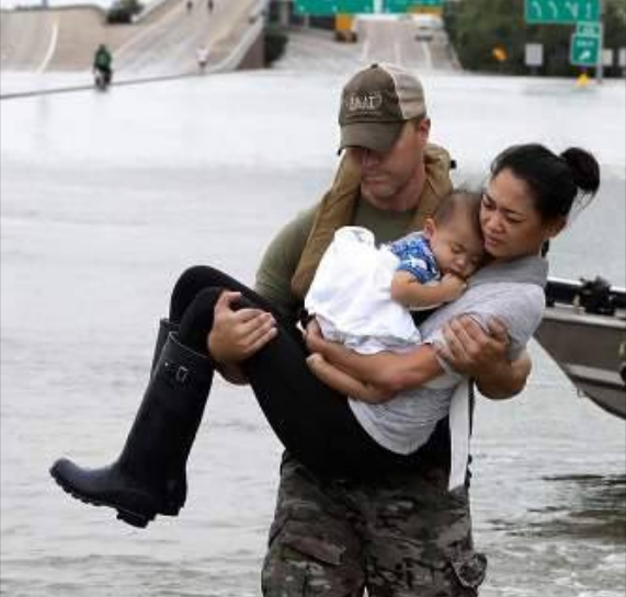 Photo-of-mother-and-baby-symbol-of-Hurricane-Harvey