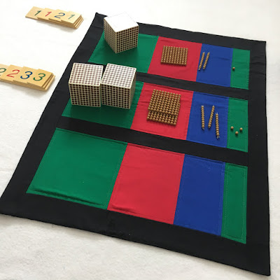 Montessori Equation Mat from Jenn Sews Felt
