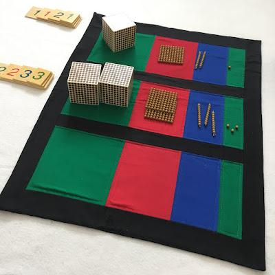 Montessori Equation Mat from Jenn Sews Felt