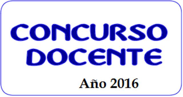 concurso docente 2016 cargue y o actualizaci n de