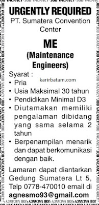 Lowongan Kerja PT. Sumatera Convention