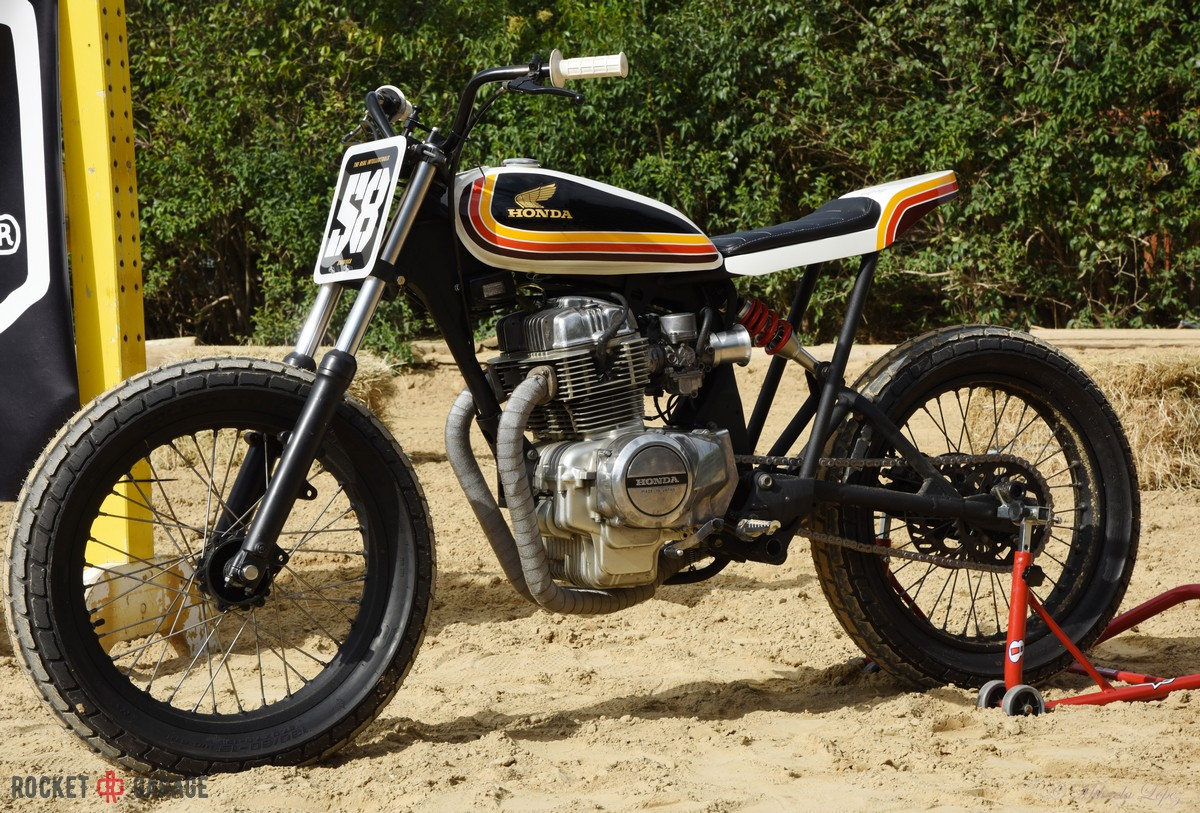 TRI FLAT TRACKER - RocketGarage - Cafe Racer Magazine
