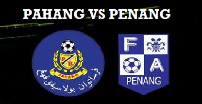 Keputusan Pahang Vs Pulau Pinang 18 Februari 2017