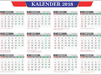 download Kalender 2018 Lengkap