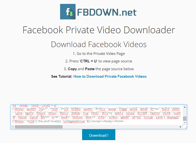 How To Download Private Facebook Videos | Safe Trick