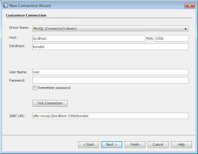 Pengaturan Koneksi pada Netbeans ke MySQL