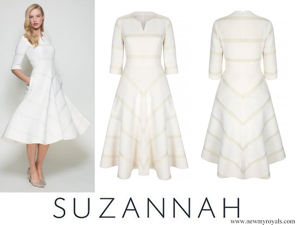 Countess Sophie wore Suzannah Wave Textured Stripe Dress