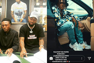 Davido Reacts to Idowest's Contract Termination Rumours