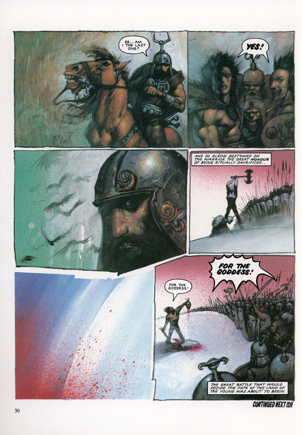 Read online Slaine: The Horned God (1993) comic -  Issue #4 - 31