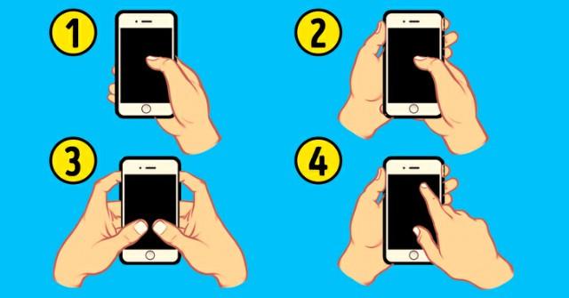 الطريقة التي تمسك بها هاتفك الذكي