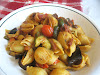 Pasta Shells with Roasted Vegetables and Black Olives