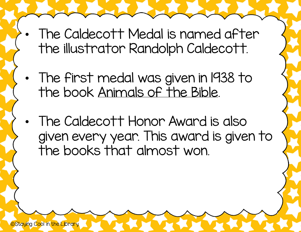 Teaching About The Caldecott Medal