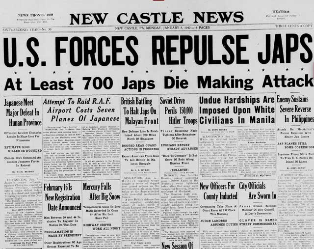 New Castle News, 5 January 1942 worldwartwo.filminspector.com