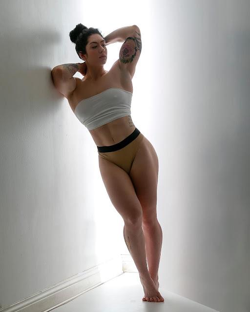 Natasha Aughey braless