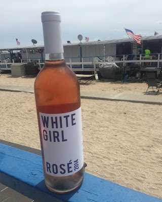 white girl rose-beach day