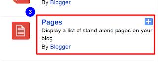 add page gadget in blog website
